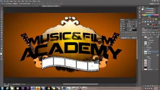 Making A Graphic Logo Using Adobe Photoshop CS6 Professional Design Tutorial