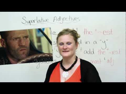 English Grammar - Superlative Adjectives - biggest, best, most beautiful, etc.