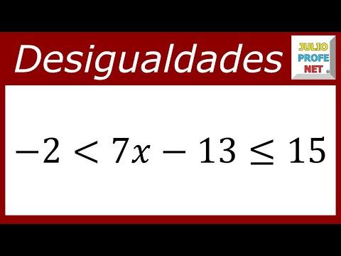 Desigualdad lineal con tres componentes