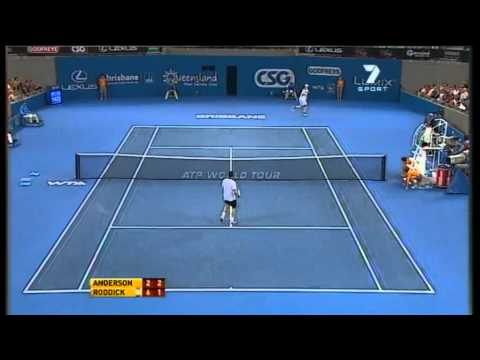 Andy Roddick v Kevin Anderson - Men's semifinal: Brisbane International 2011