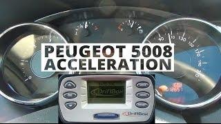 Peugeot 5008 2.0 HDi 150 KM - acceleration 0-100 km/h
