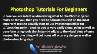 Learn How To Use Photoshop