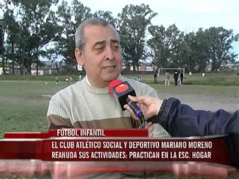 Fútbol Infantil en el Club Atlético Social y Deportivo Mariano Moreno