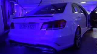 Posłuchaj jak brzmi Mercedes E 63 AMG w garażu podziemnym