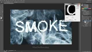 How To Make Smoke Text In Photoshop (ADOBE PHOTOSHOP CS6 TUTORIAL)
