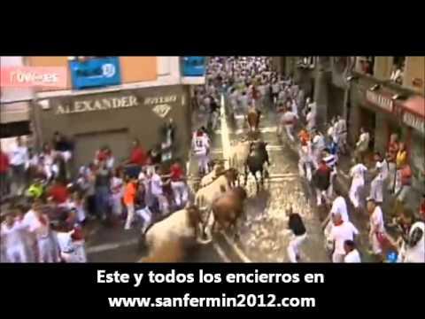 Octavo y último encierro de San Fermin 2012 . 8º encierro en 14 de Julio de San Fermín 2012