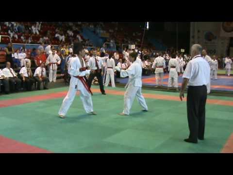 WUKF WORLD KARATE CHAMPIONSHIPS 2009.: JACKY DETAILLE (AFKA FRANCE) kumite team veterans