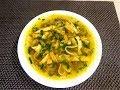 Суп с омлетом и горошком.  Необычный, нежный вкус