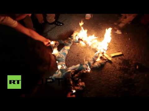 Turkey: (Protesters) burn Israeli flag over Gaza military offensive A Must Watch  7/19/14