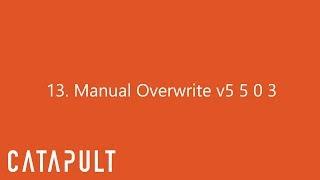 Manual Overwrite