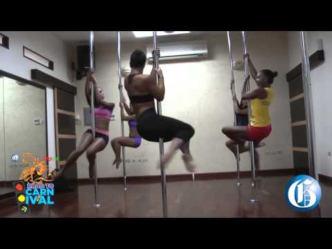 Pole fitness with #TeamBlue