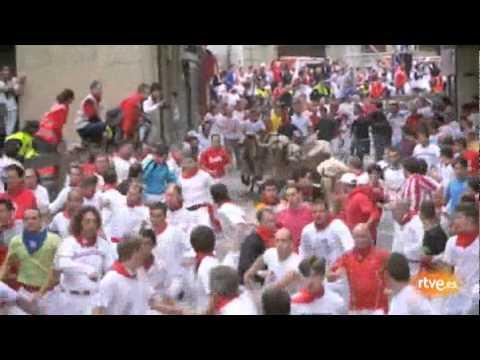 Séptimo encierro de San Fermín 2011. 12-07-2011