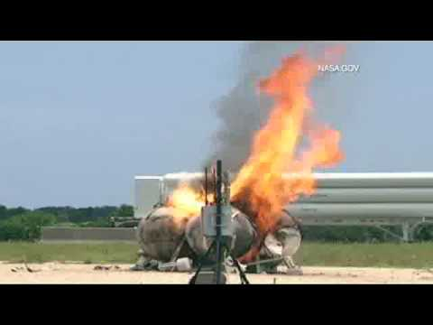 Morpheus rocket freeflight crash and explosion