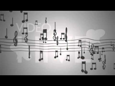 Classic Music Notes Loop background animation full hd -yc3Z2T08_J4