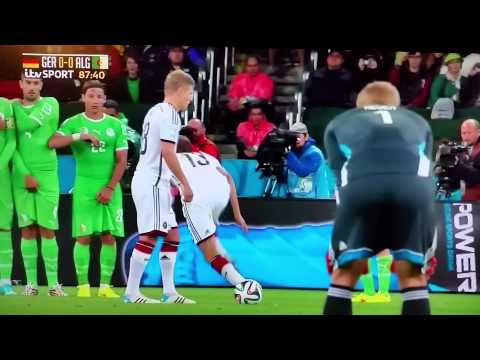 FAIL. Thomas Muller free kick Germany vs Algeria