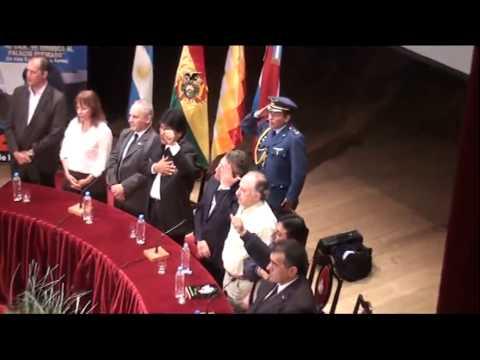 <b>Cumbre del Mercosur. </b>Legisladores y dirigentes del PJ en el acto a Evo