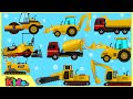 Learning Construction Vehicles | Excavators | Truck Videos for Children | Little Kids TV