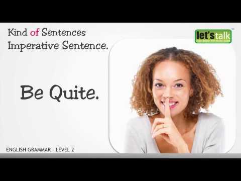 Sentence - English Grammar level 2. (  )