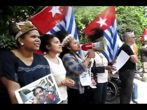 Demo Solidarity British Friends, Salomon Island, Vanuatu & Papua New Guinea   London  2011 Part 2 xvid