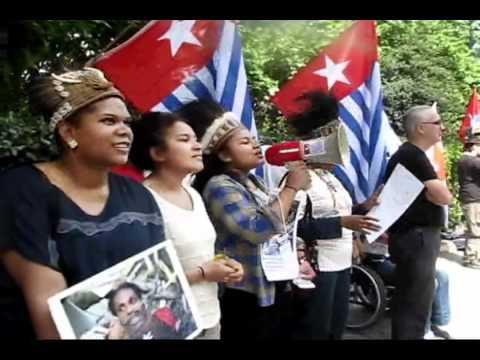 Demo Solidarity British Friends, Salomon Island, Vanuatu & Papua New Guinea   London  2011 Part 2 xvid