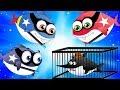 Police Shark Chase Flying Shark   Supershark Squad Cartoon Songs for Kids