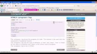 HTML5 Tutorial : HTML5 progress tag