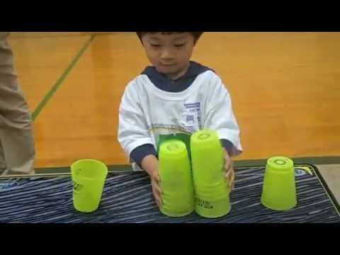 Amazing 3yr Old Cup Stacker