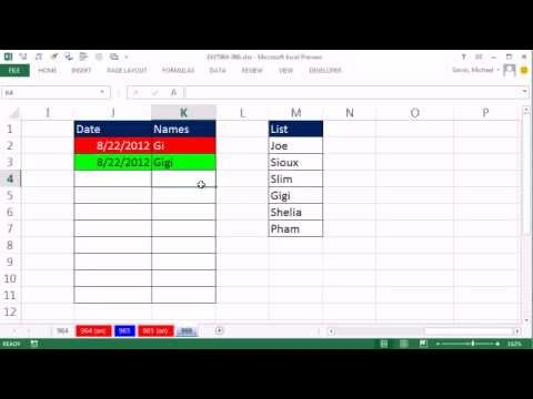 Excel Magic Trick 966: Conditional Format Row When Item Is In List