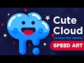 Illustrator speed Art : How To Create A Cute Character Design