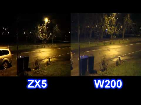 Samsung W200 & Kodak ZX5 Low light comparsion