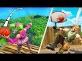 *INSANE* 5000 IQ BASKETBALL SHOTS! - Fortnite Fails & Epic Wins #22 (Fortnite Funny Moments)