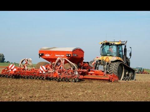 Drilling winter wheat Challenger MT 765C + Kuhn Moduliner HR 6004 ML  Aussaat Zaaien