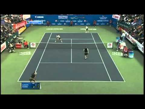 Kirilenko/Kafelnikov vs Rezai/Edberg Hong Kong Mixed Doubles 2011 Part 2