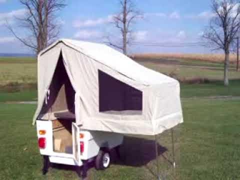 Kompact Kamp Mini-Mate motorcycle camper trailer set-up