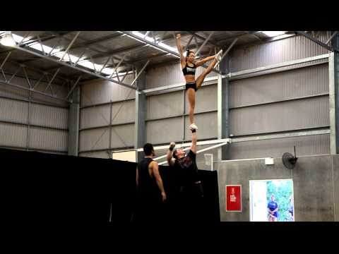 Derrick and Nicole - Level 6 Partner Stunt - Oct 2011