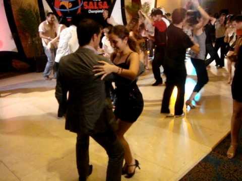 Oliver Pineda and lil Denisse at the World Salsa Championship 2009