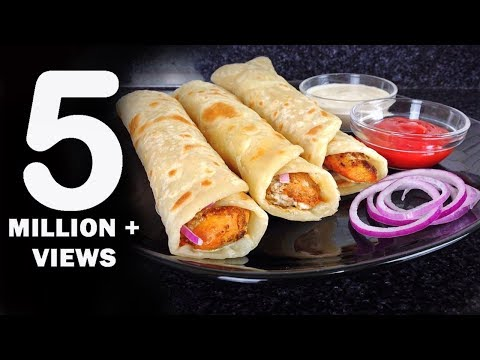 Chicken Paratha Roll Recipe - Ramadan Recipes by (HUMA IN THE KITCHEN)