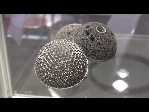 3d printing with metal, titanium & aluminum demo by EOS @ MDM 2013