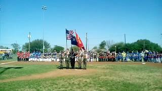 National Anthem at Mulberry Park Baseball Opening