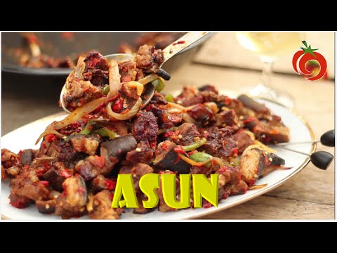 How to make ASUN (Goat Meat) - 1QFOODPLATTER