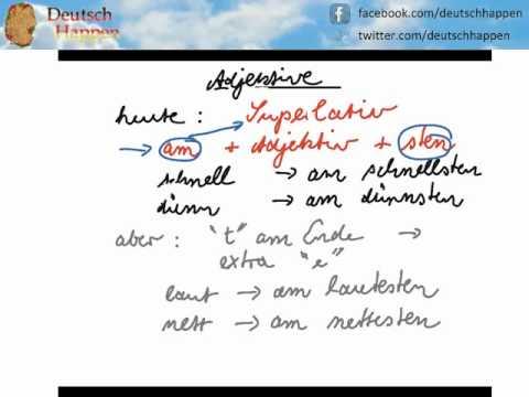 Learn German Grammar with Deutsch Happen - Superlativ 1