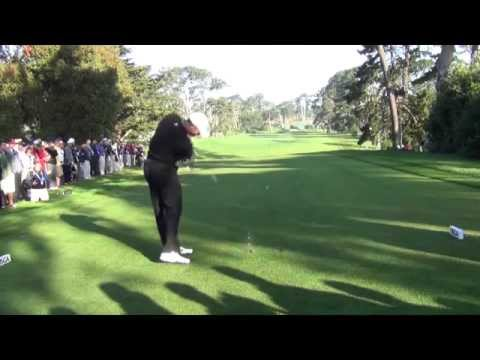 Tiger Woods 2012 US Open Olympic Club SwingVision Slow Motion 60fps refined