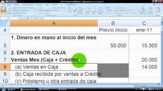 Cómo hacer un Presupuesto / Flujo de Caja (cash flow) en Excel - vídeo 3, planilla gratis