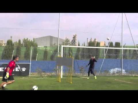 فيديو شاهد ... تدريب رائع لحارس ريال مدريد الجديد الحارس الكوستاريكي كيلور نافاس