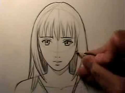 How To Draw a Realistic Manga Face: Female