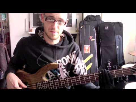 Soloing on static dominant chords - part 2 - BASS LESSON with Scott Devine