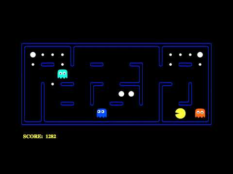 Pac-Man played by an AI agent (CS188.1x)