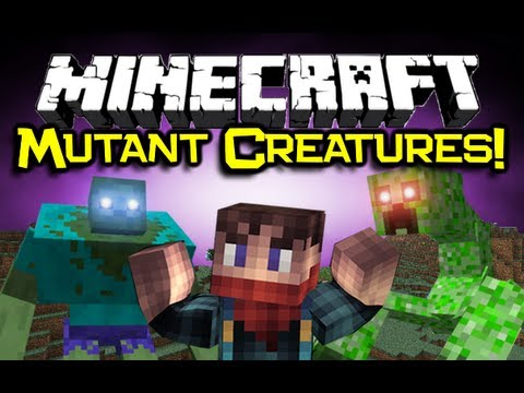 Minecraft - MUTANT CREATURES MOD Spotlight - Zomg... RUN! (Mutant Creepers & Mutant Zombies) 1.4.4