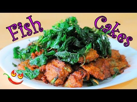 How to make Fish Cakes Recipe Video - Deep Fried Thai Fish Cakes with Curry