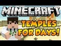 Minecraft 1.7 Seed Spotlight - 4 TEMPLES, STRONGHOLD NEAR SPAWN!